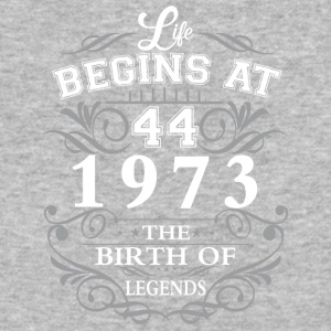 Life begins 44 1973 The birth of legends - Baseball T-Shirt