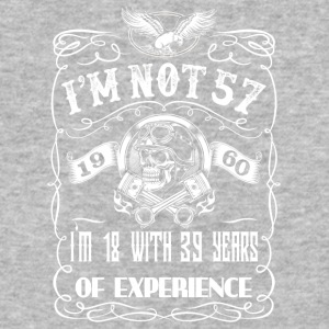 I'm not 57 1960 I'm 18 with 39 years of experience - Baseball T-Shirt