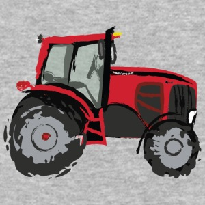 Tractor Red - Baseball T-Shirt