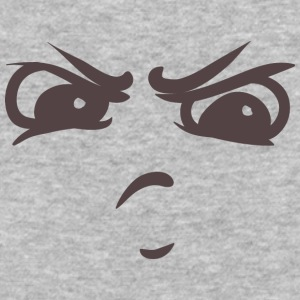 Intimidating face - Your emotions on your T-shirt - Baseball T-Shirt