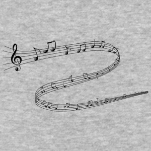 Musical Notes - Baseball T-Shirt