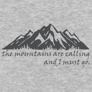 The_Mountains_are_Calling - Baseball T-Shirt