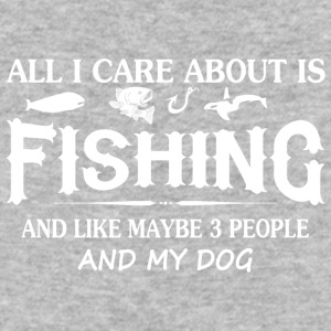 Care About Fishing and My Dog - Baseball T-Shirt
