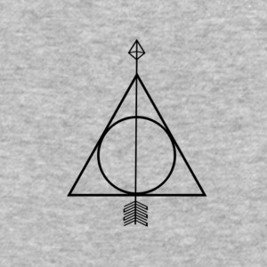 Deathly Hallows Geometric Arrow - Baseball T-Shirt