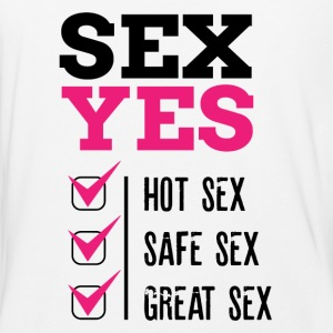 SEX YES HOT SEX SAFE SEX GREAT SEX - Baseball T-Shirt