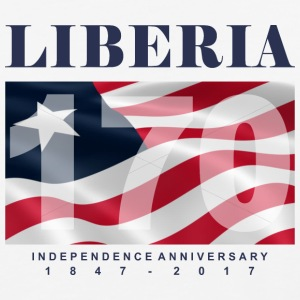 Liberia @ 170 Independence - Baseball T-Shirt