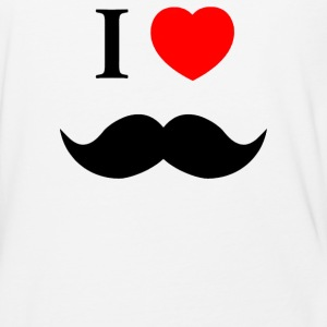 I Love Heart Moustache Tumblr - Baseball T-Shirt