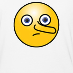 Nosey Smiley Face Emoticon - Baseball T-Shirt