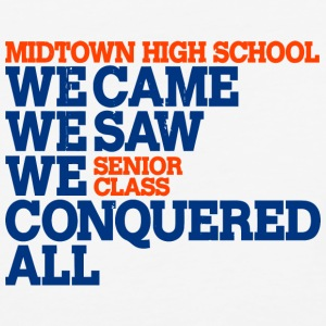 Midtown High School We Came We Saw We Conquered Al - Baseball T-Shirt