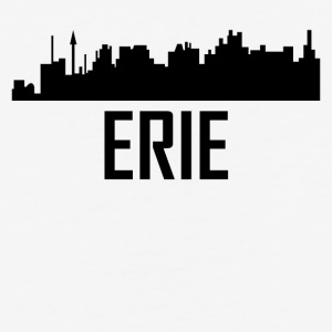 Erie Pennsylvania City Skyline - Baseball T-Shirt