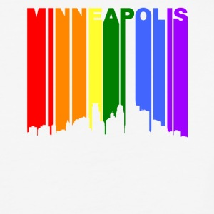 Minneapolis Minnesota Rainbow LGBT Gay Pride - Baseball T-Shirt