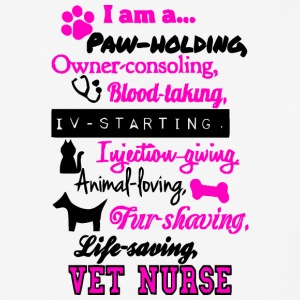 I Am A Vet Nurse T Shirt - Baseball T-Shirt