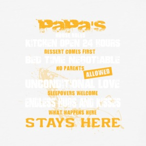 Papa's House Rules T Shirt - Baseball T-Shirt