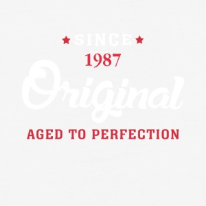 Since 1987 Original Aged To Perfection Cool Gift - Baseball T-Shirt