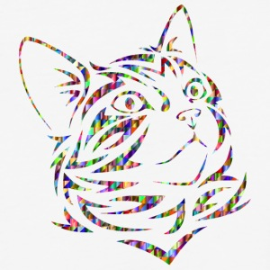 Chromatic Triangular Tribal Kitten - Baseball T-Shirt