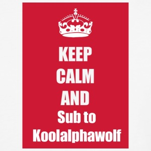 Subsribe to koolalphawolf - Baseball T-Shirt
