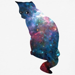 galaxy_cat_sitting - Baseball T-Shirt