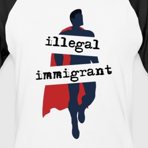Super-Immigrant - Baseball T-Shirt