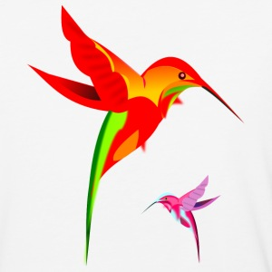Colorful Hummingbirds Birds Design - Baseball T-Shirt