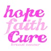 hope faith cure - Baseball T-Shirt