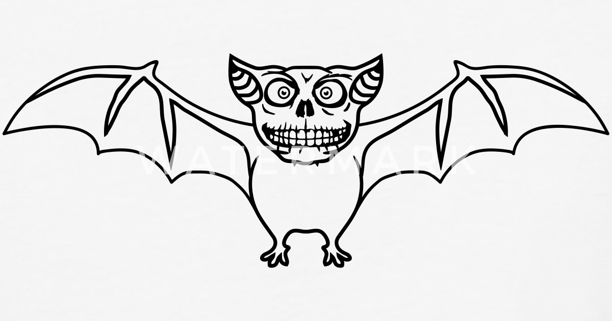 Vampire Horror Bat Flying Dog Comic Cartoon Funny Unisex Baseball
