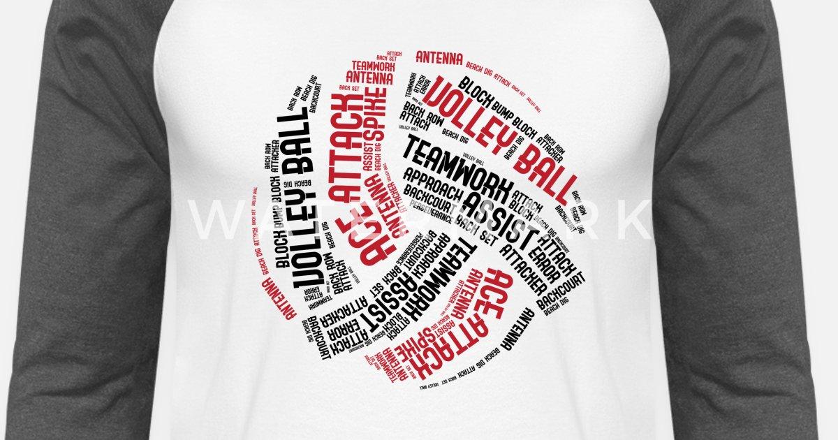 Volleyball Game Day Shirt Unisex Baseball T Shirt