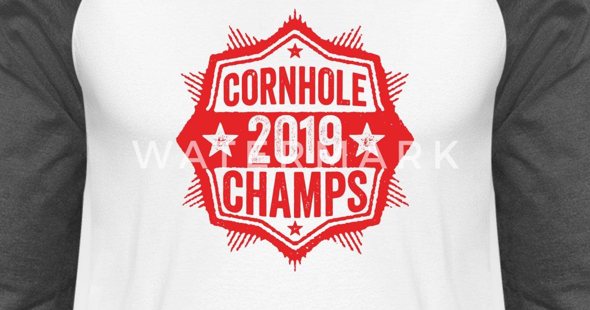 fe422d1d Cornhole Champion 2019 T-Shirt Distressed Vintage Unisex Baseball T-Shirt |  Spreadshirt
