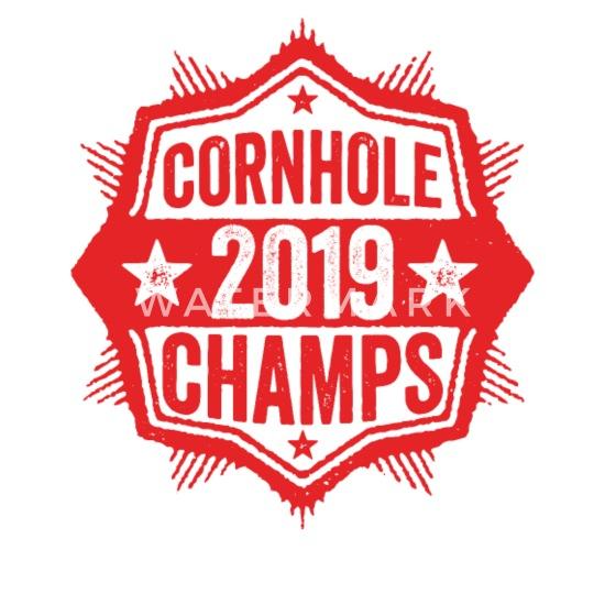57f72d47 Cornhole Champion 2019 T-Shirt Distressed Vintage - Unisex Baseball T-Shirt.  Front. Back. Design
