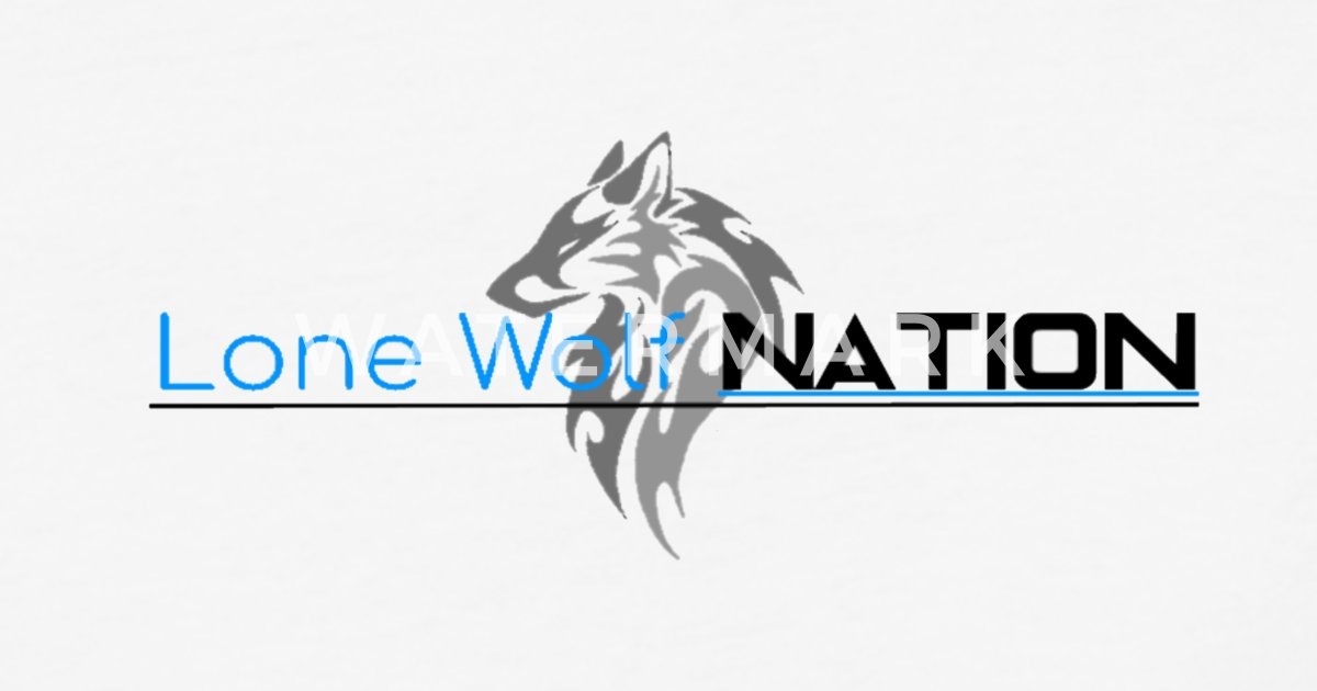 Lone Wolf Nation Logo And Words Unisex Baseball T Shirt