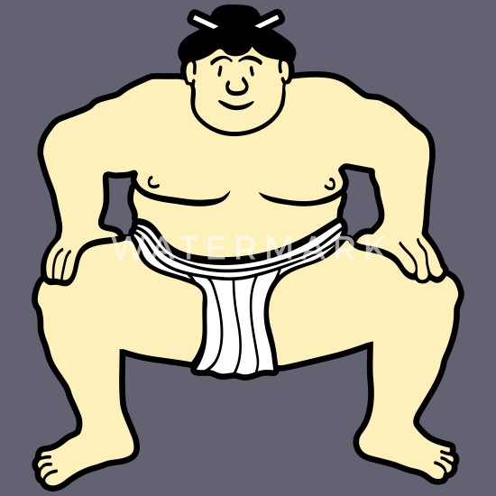 Sumo wrestlers Royalty Free Vector Clip Art illustration  -peop0202-CoolCLIPS.com