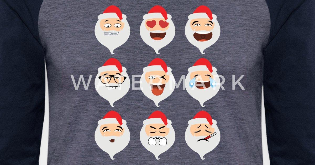 e3c78da9 Santa Claus Asian Emojis Christmas Funny TShirt Unisex Baseball T-Shirt |  Spreadshirt
