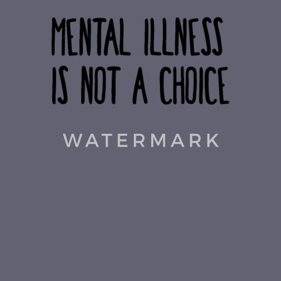 mental illness is not a choice Unisex Baseball T-Shirt