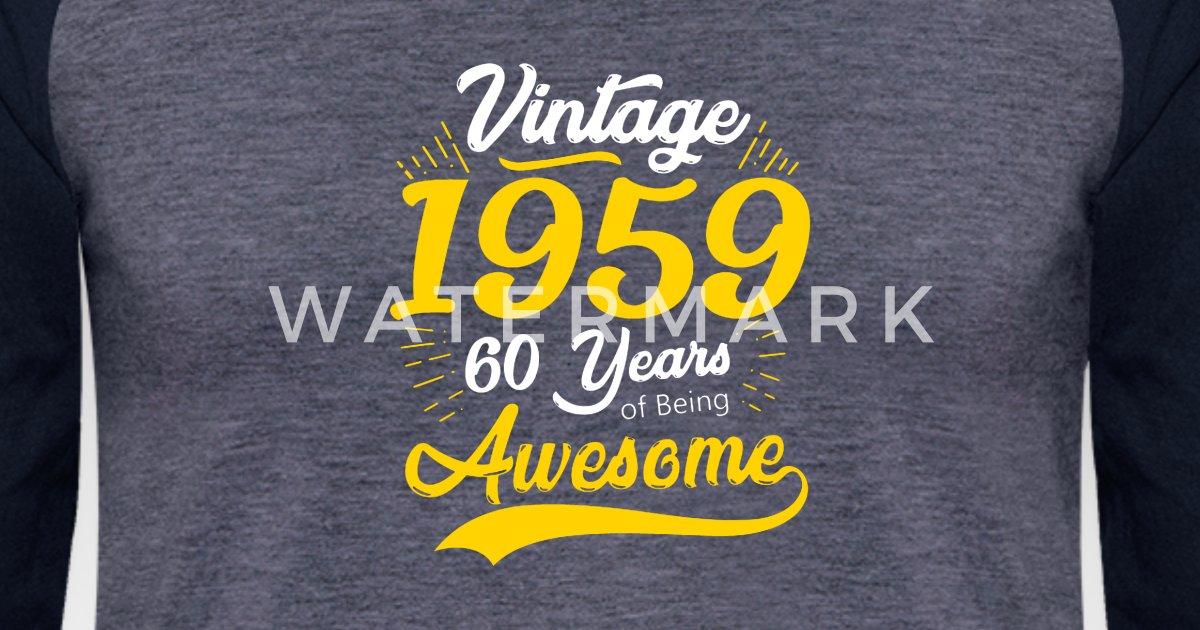 Vintage 1959 60th Birthday Unisex Baseball T-Shirt ...
