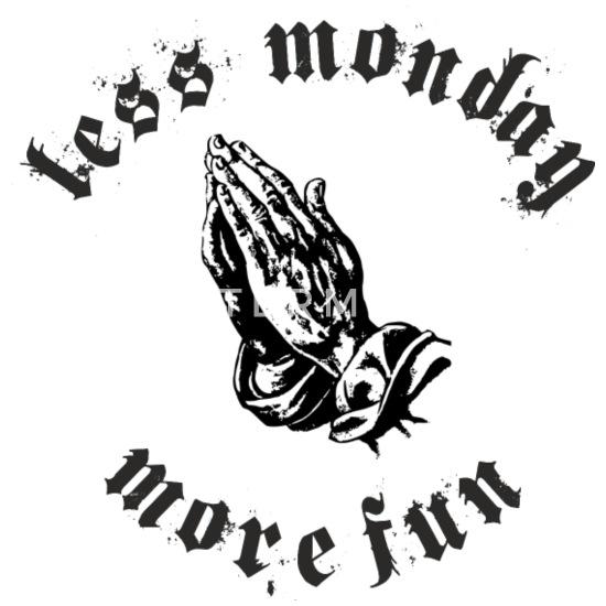 Less Monday More Fun Women's Maternity T-Shirt - white
