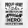 Proud Army Sister their hero i grew up with mine - Women's Maternity T-Shirt