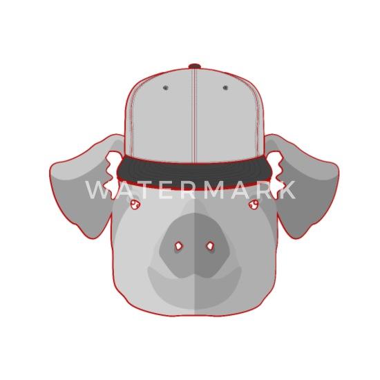 Animal Drawing Pig Pet Gift Ideas Maternity T Shirt