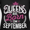 Born Birthday Bday Queens September - Women's Maternity T-Shirt