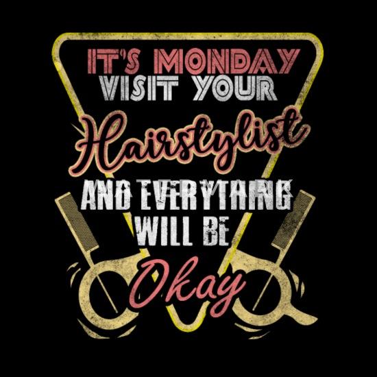 Hair stylist quotes salon humor Barber scissor Maternity T ...