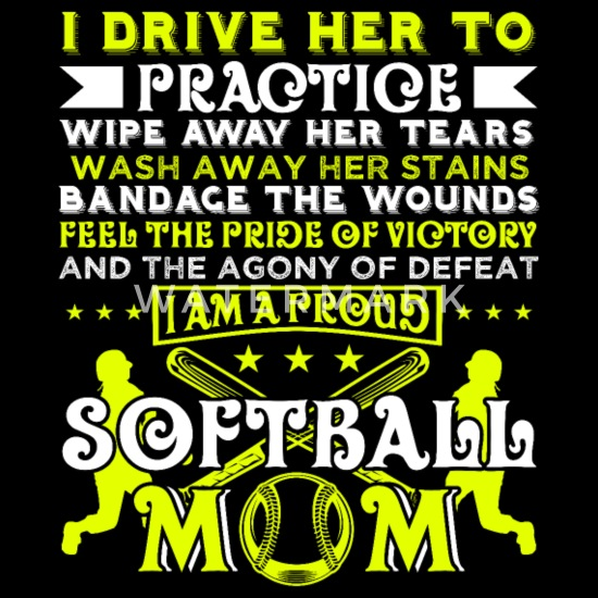 Softball Player Coach Fan Funny Quotes Women's Maternity T-Shirt - black