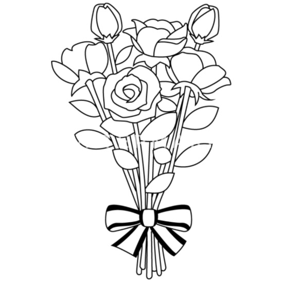 Flower Clipart Outline Same Day Flower Delivery