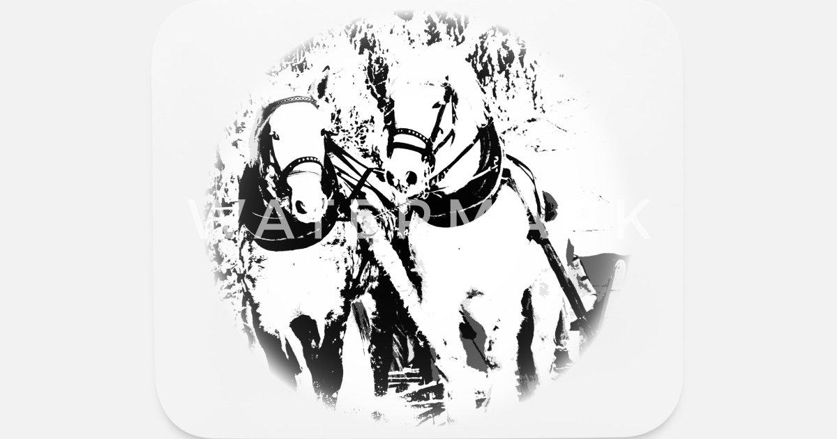 Horse, horse head, ride, foal, mane, saddle Mouse Pad | Spreadshirt