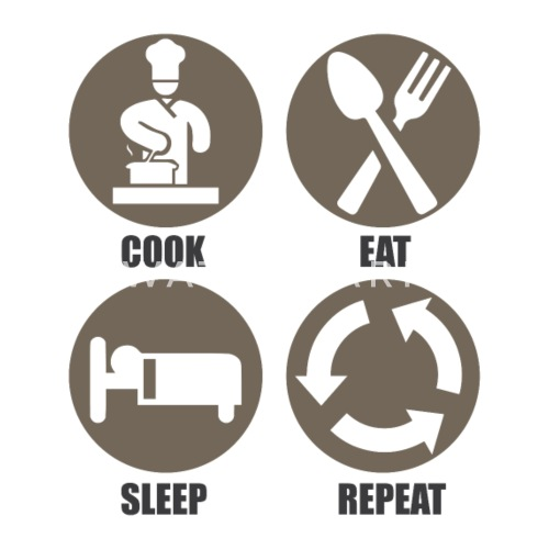 Cooking Cooked Kitchen Chef Cook Rib Roast Time Mouse pad Horizontal - white