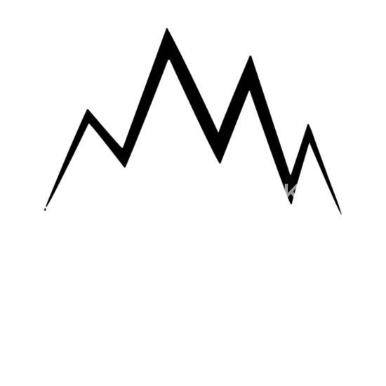 Mountain symbol mountaineer climber mountains Mouse pad Horizontal - white