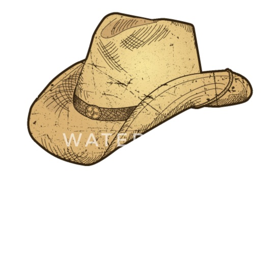 a737698a4 Vintage Retro Western Cowboy Hat Distressed Mouse pad Horizontal - white