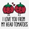 I love you from my head tomatoes - Mouse pad Horizontal