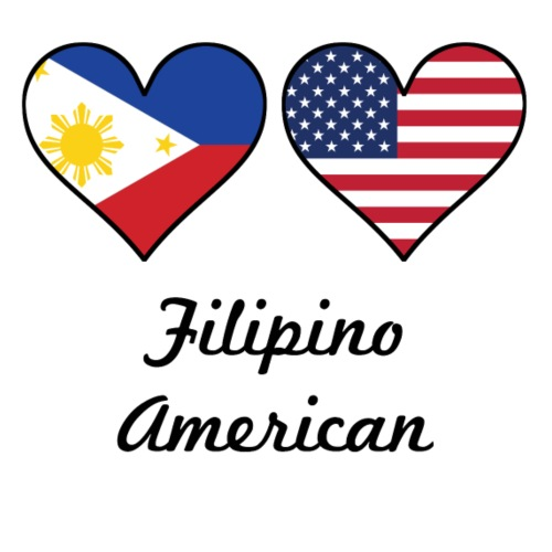 6d970b18ed1 Mouse PadFilipino American Flag Hearts. Awesome Shirts