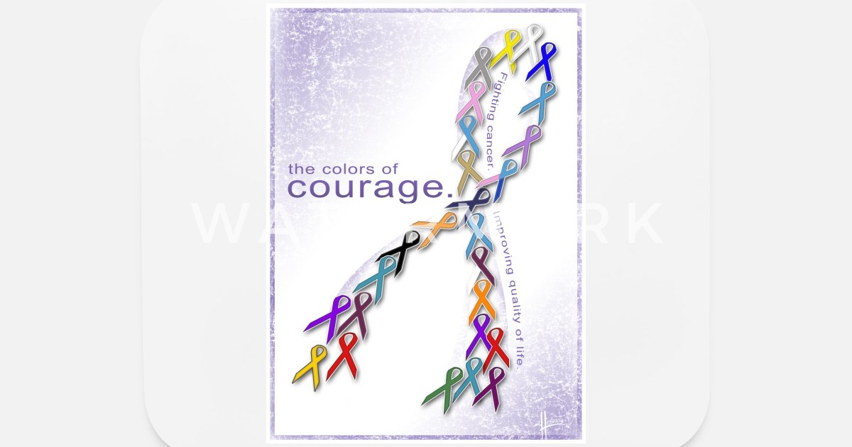 The Colors of Courage Cancer Awareness Ribbons Mouse Pad | Spreadshirt