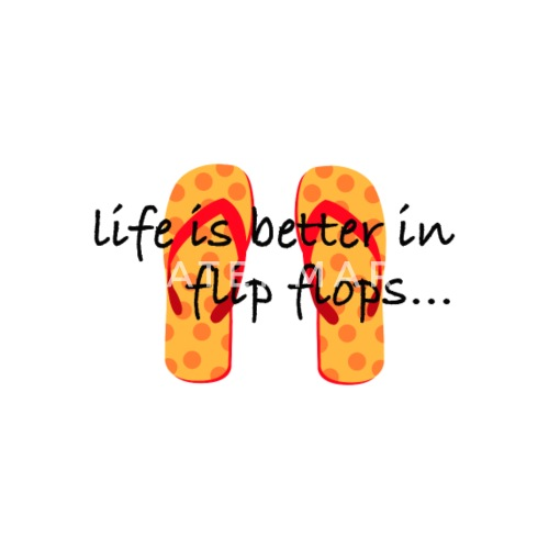 Life Is Better In Flip Flops Mouse Pad Spreadshirt