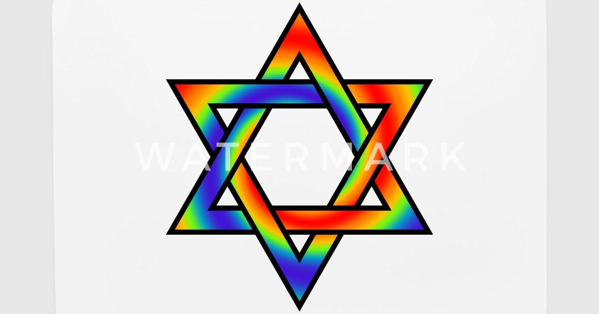 Rainbow Gradient Star Of David Symbol By Dimkadnb Spreadshirt
