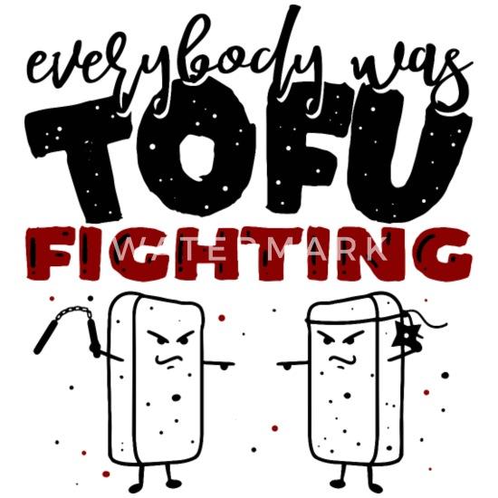 Cool Funny Comic Vegan Vegetarian Tofu Quotes Gift Mouse Pad Horizontal White